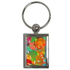 Background Colorful Abstract Key Chains (rectangle)