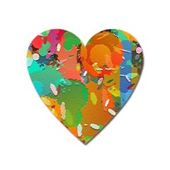 Background Colorful Abstract Heart Magnet