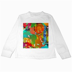 Background Colorful Abstract Kids Long Sleeve T Shirts