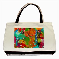 Background Colorful Abstract Basic Tote Bag