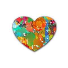 Background Colorful Abstract Heart Coaster (4 Pack)