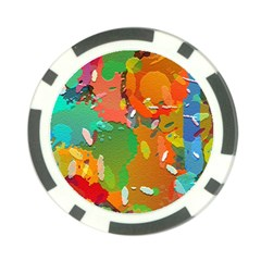 Background Colorful Abstract Poker Chip Card Guard
