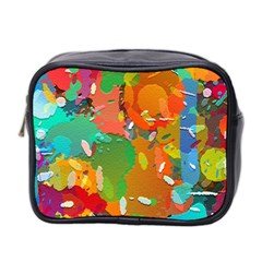 Background Colorful Abstract Mini Toiletries Bag 2 Side