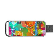 Background Colorful Abstract Portable Usb Flash (one Side)