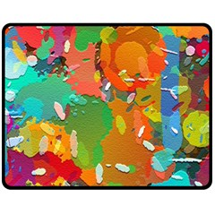 Background Colorful Abstract Double Sided Fleece Blanket (medium)