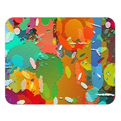 Background Colorful Abstract Double Sided Flano Blanket (large)