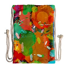 Background Colorful Abstract Drawstring Bag (large)