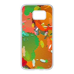 Background Colorful Abstract Samsung Galaxy S7 Edge White Seamless Case