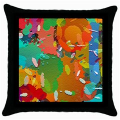 Background Colorful Abstract Throw Pillow Case (black)