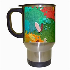 Background Colorful Abstract Travel Mugs (white)