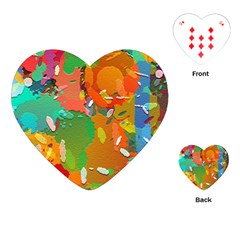 Background Colorful Abstract Playing Cards (heart)