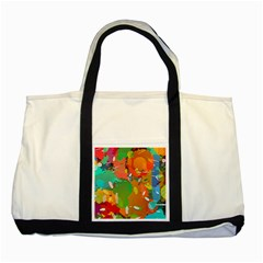 Background Colorful Abstract Two Tone Tote Bag
