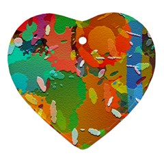 Background Colorful Abstract Heart Ornament (two Sides)