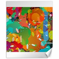 Background Colorful Abstract Canvas 11  X 14
