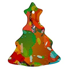 Background Colorful Abstract Christmas Tree Ornament (two Sides)