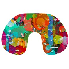 Background Colorful Abstract Travel Neck Pillows