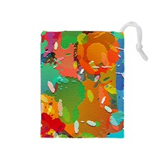 Background Colorful Abstract Drawstring Pouches (medium)