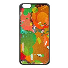 Background Colorful Abstract Apple Iphone 6 Plus/6s Plus Black Enamel Case