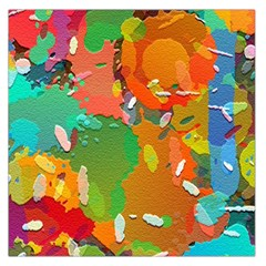 Background Colorful Abstract Large Satin Scarf (square)