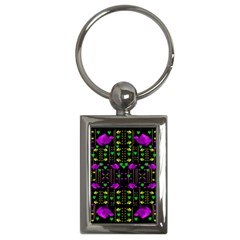 Pure Roses In The Rose Garden Of Love Key Chains (rectangle)