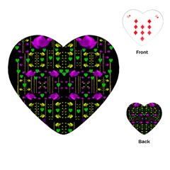Pure Roses In The Rose Garden Of Love Playing Cards (heart)