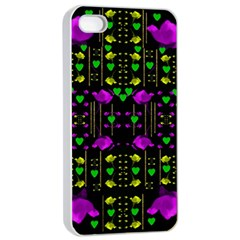 Pure Roses In The Rose Garden Of Love Apple Iphone 4/4s Seamless Case (white)