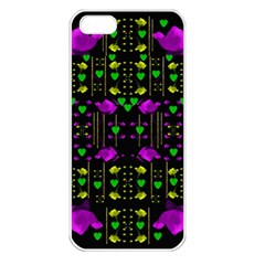 Pure Roses In The Rose Garden Of Love Apple Iphone 5 Seamless Case (white)