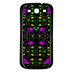 Pure Roses In The Rose Garden Of Love Samsung Galaxy S3 Back Case (black)