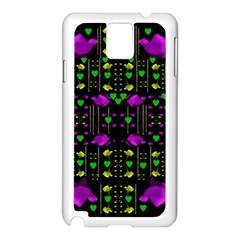 Pure Roses In The Rose Garden Of Love Samsung Galaxy Note 3 N9005 Case (white)