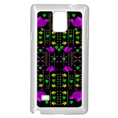 Pure Roses In The Rose Garden Of Love Samsung Galaxy Note 4 Case (white)