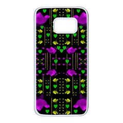 Pure Roses In The Rose Garden Of Love Samsung Galaxy S7 White Seamless Case