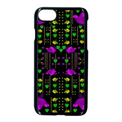 Pure Roses In The Rose Garden Of Love Apple Iphone 8 Seamless Case (black)