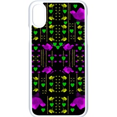 Pure Roses In The Rose Garden Of Love Apple Iphone X Seamless Case (white)