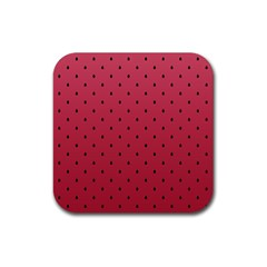 Watermelon Minimal Pattern Rubber Square Coaster (4 Pack)