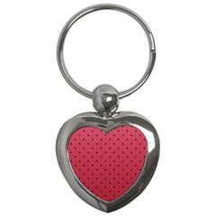 Watermelon Minimal Pattern Key Chains (heart)