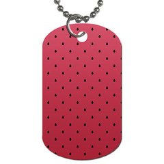 Watermelon Minimal Pattern Dog Tag (two Sides)