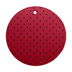Watermelon Minimal Pattern Round Ornament (two Sides)