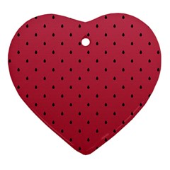 Watermelon Minimal Pattern Heart Ornament (two Sides)