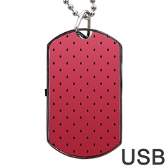 Watermelon Minimal Pattern Dog Tag Usb Flash (two Sides)