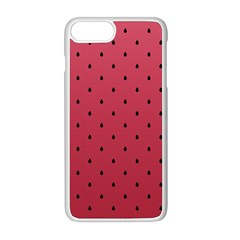Watermelon Minimal Pattern Apple Iphone 8 Plus Seamless Case (white)