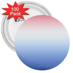 Red And Blue 3  Buttons (100 Pack)