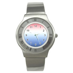 Red And Blue Stainless Steel Watch