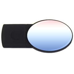 Red And Blue Usb Flash Drive Oval (4 Gb)