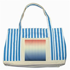 Red And Blue Striped Blue Tote Bag