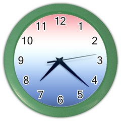 Red And Blue Color Wall Clocks