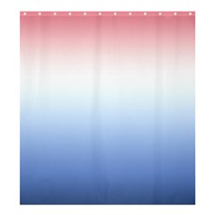 Red And Blue Shower Curtain 66  X 72  (large)