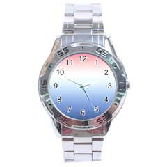 Red And Blue Stainless Steel Analogue Watch