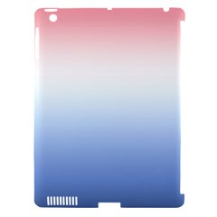 Red And Blue Apple Ipad 3/4 Hardshell Case (compatible With Smart Cover)