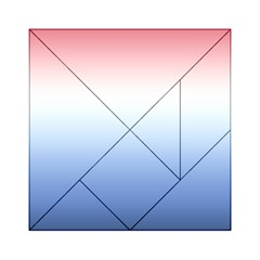 Red And Blue Acrylic Tangram Puzzle (6  X 6 )