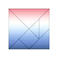 Red And Blue Acrylic Tangram Puzzle (4  X 4 )